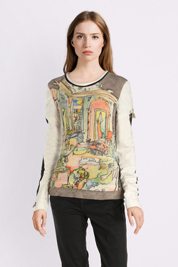 Tee-shirt manches longues ELISA CAVALETTI ELW185001913 Taupe