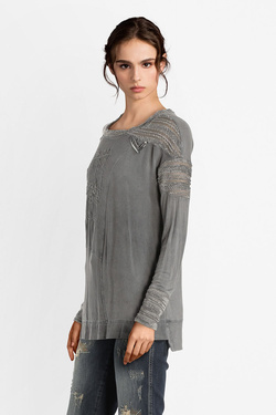 Tee-shirt manches longues ELISA CAVALETTI ELW185062205 Gris