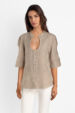 Chemise manches courtes ELISA CAVALETTI ELP191031600 Taupe