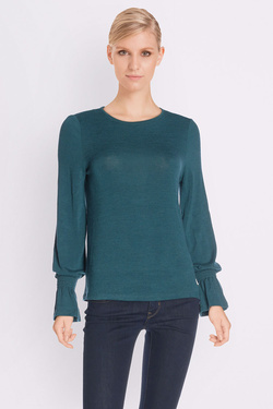 Tee-shirt manches longues ESPRIT 097EE1K013 Bleu turquoise