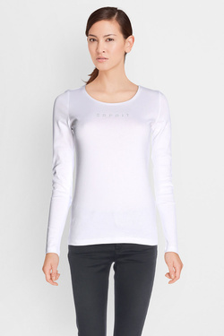 Tee-shirt manches longues ESPRIT 087EE1K064 Blanc