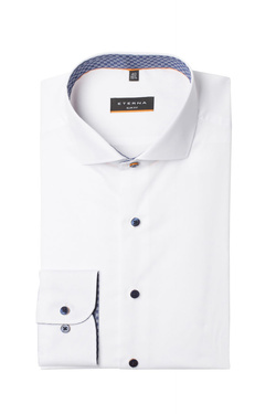 Chemise manches longues ETERNA F142 8585 Blanc
