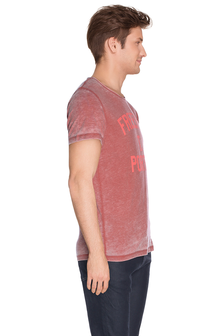 Freeman t porter tee shirt 16124168 cot12 rouge homme for Freeman t porter homme