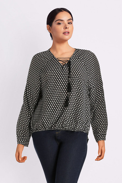 Blouse GABRIELLE BY MOLLY BRACKEN GG11A18 Noir