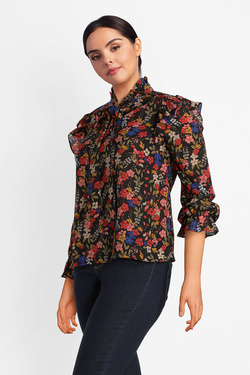 Blouse GABRIELLE BY MOLLY BRACKEN PP35A18 Noir