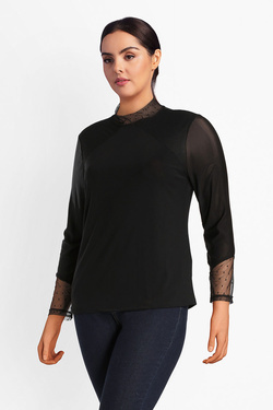 Tee-shirt manches longues GABRIELLE BY MOLLY BRACKEN VV2281BA18 Noir