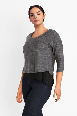 Tee-shirt manches longues GABRIELLE BY MOLLY BRACKEN PP01A18 Gris