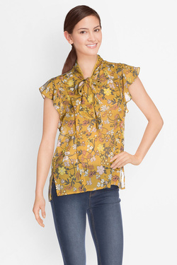 Blouse GRACE ET MILA NOUR Jaune moutarde