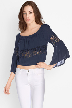 Blouse GUESS W72H78W8GM0 Bleu marine