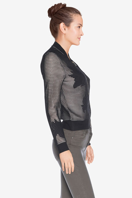 Bomber maille ajourée GUESS