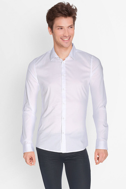 Chemise manches longues GUESS M64H15 W7ZK0 Blanc