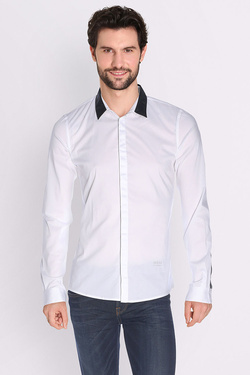 Chemise manches longues GUESS M64H39 W7ZK0 Blanc