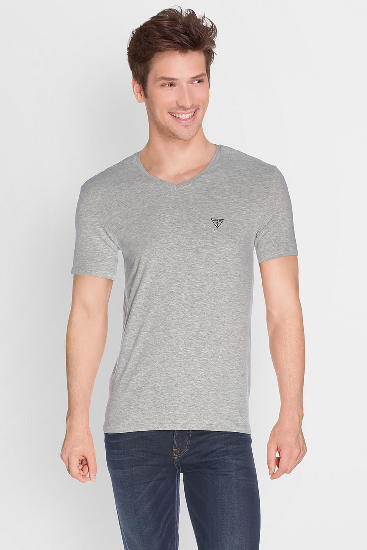 guess tee shirt m64i54 j1300 graphic gris clair homme. Black Bedroom Furniture Sets. Home Design Ideas