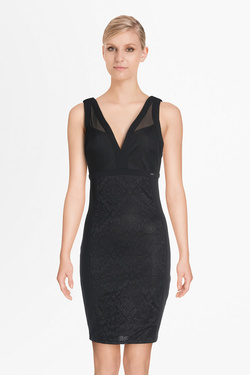 Robe GUESS W81K68K6NS0 NATALIA DRESS Noir