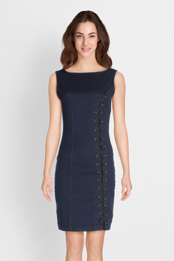 Robe GUESS W81K23D2VS0 TIA DRESS Bleu foncé