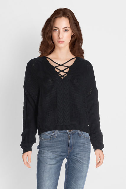 Pull col v fantaisie GUESS