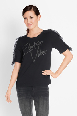 Tee-shirt GUESS W81I74K54B0 SS RN ELECTRIC Noir