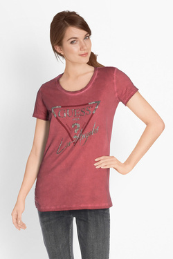 Tee-shirt GUESS W81I72K1DM1 SS RN LOS ANGELES Rouge