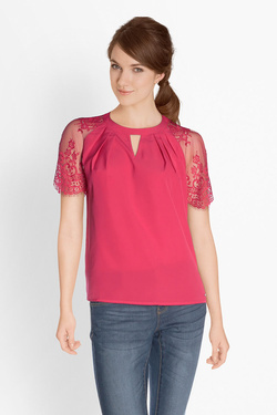 Tee-shirt GUESS W81H13W91Q0 SS BEGO TOP Rose fuchsia