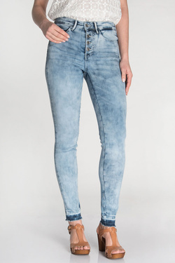 Jean GUESS W81A28D2ZD0 1981 EXPOSED BUTTO Bleu ciel