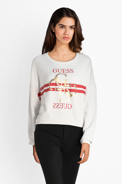 Sweat-shirt GUESS W83Q16K7EX0 G LOGO FLEECE Blanc