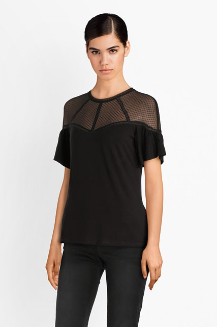 Tee-shirt voile brodé GUESS
