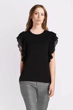 Tee-shirt GUESS W83P53K68D0 SS POLLY Noir