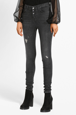 Jean GUESS W83A28D38Q0 1981 EXPOSED BUTTO Gris