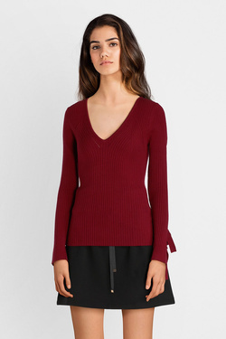 Pull GUESS W84R32Z2730 LS TN ISABELLE SWT Rouge bordeaux