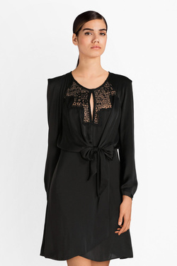 Robe GUESS W84K53W3TO0 CYPRIENNE DRESS Noir
