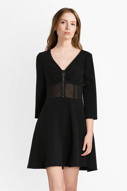 Robe GUESS W84K44WAFF0 AGOSTINA DRESS Noir