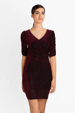 Robe GUESS W84K72K7RQ0 YURI DRESS Rouge bordeaux