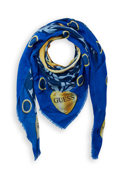 Foulard GUESS NOT COORDINATED KEFIAH 130X130 Bleu