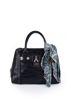 Sac GUESS ANNE MARIE DOME SATCHEL Noir