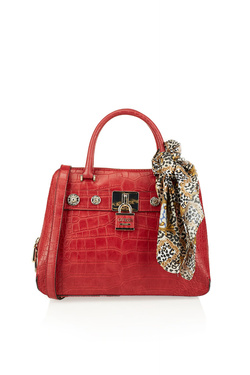 Sac GUESS ANNE MARIE DOME SATCHEL Rouge