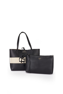 Sac GUESS BOBBI INSIDE OUT TOTE Noir