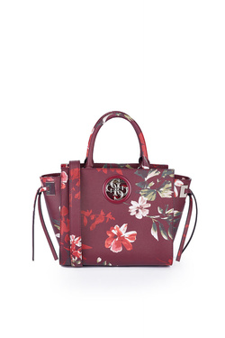 Sac GUESS OPEN ROAD SOCIETY SATCHEL Rouge bordeaux
