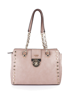 Sac GUESS MARLENE LUXURY SATCHEL Taupe