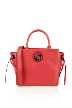 Sac GUESS OPEN ROAD SOCIETY SATCHEL Rouge