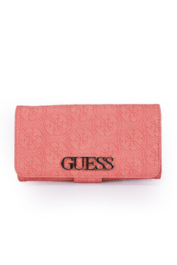 Portefeuille GUESS HERITAGE POP SLG FILE CLUTCH Corail