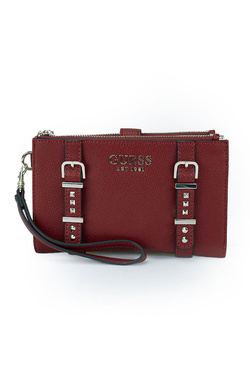Portefeuille GUESS EILEEN SLG DOUBLE ZIP ORGNZR Rouge