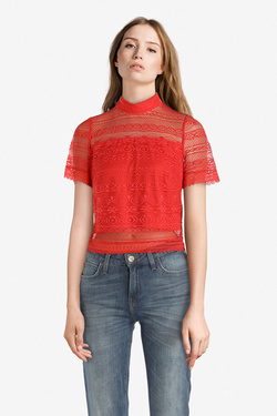 Tee-shirt GUESS W91P37K86T0 ADELAIDE TOP Rose