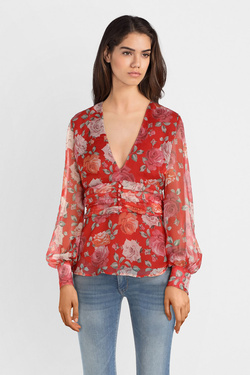 Blouse GUESS W91H74WB4Q0 LS SOFIA TOP Rouge