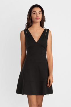 Robe GUESS W91K70K86U0  EVITA DRESS Noir