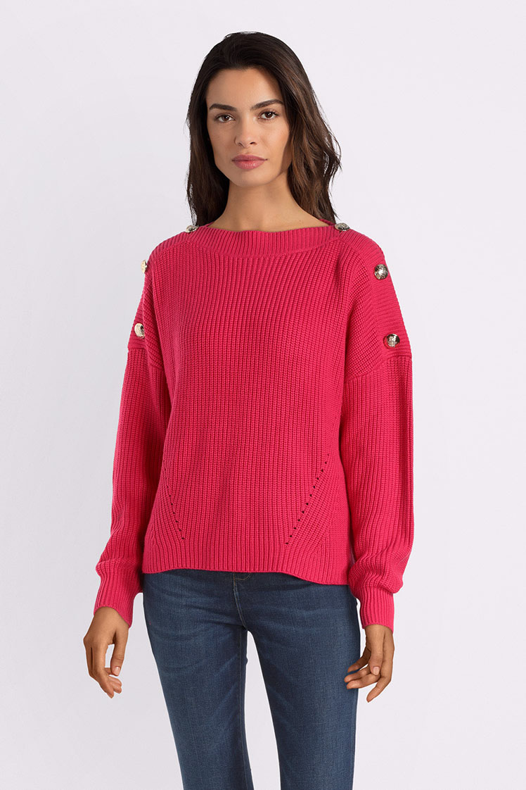 Pull Épaules Épaules Cropped Cropped Boutonnées Pull Guess Boutonnées Guess 0nw8kOP