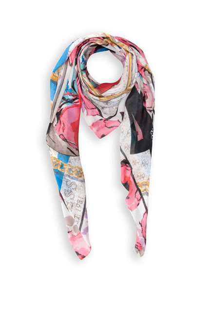 Foulard en voile imprimé 2 versions GUESS
