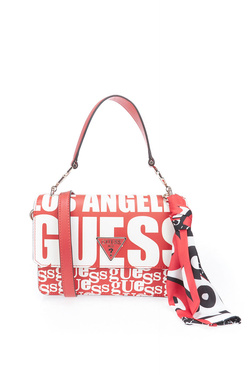 Sac GUESS ANALISE CROSSBODY FLAP Rouge