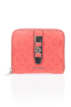 Portefeuille GUESS PEONY CLASSIC SLG SML ZIP ARND Rouge