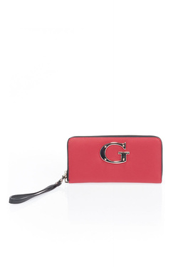 Portefeuille GUESS CAMILA SLG LARGE ZIP AROUND Rouge
