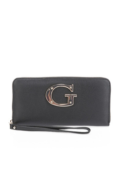 Portefeuille GUESS CAMILA SLG LARGE ZIP AROUND Noir